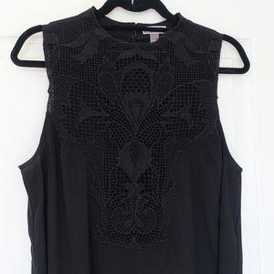 Chelsea28 black lace front top